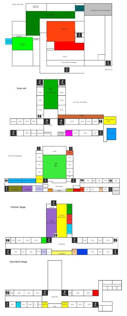 Plan école secondaire Notre-Dame des Champs Uccle