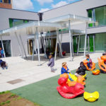 Ecole maternelle Heliport Bruxelles récréation